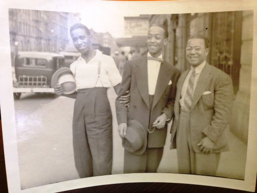 From Bertel's photo box, Harlem in the 1930s. Jazz cats? Too cool or what!